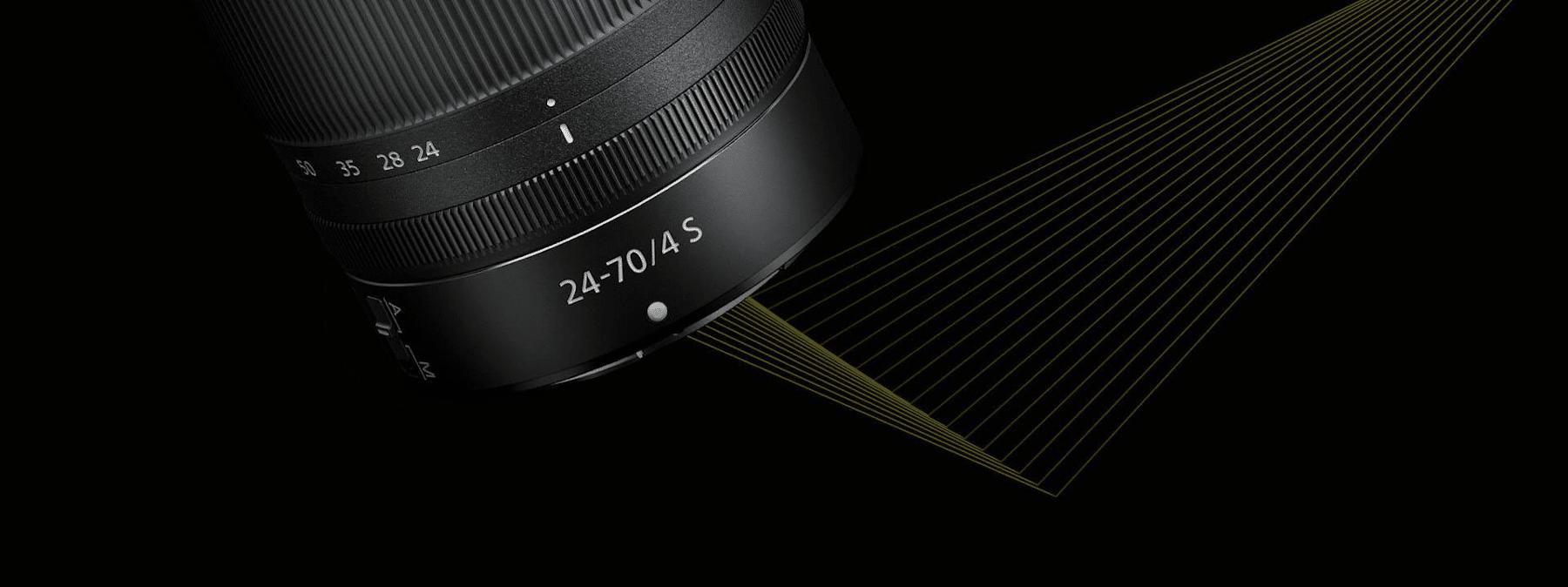 nikon nikkor z 24-70mm f4, obiektyw nikkor 27-70mm, obiektyw zmiennoogniskowy, obiektyw nikkor z 24-70mm, 018208200726